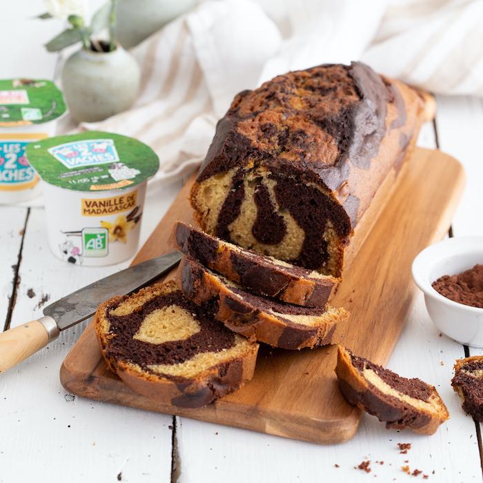 recette de Gâteau marbré choco-yaourt