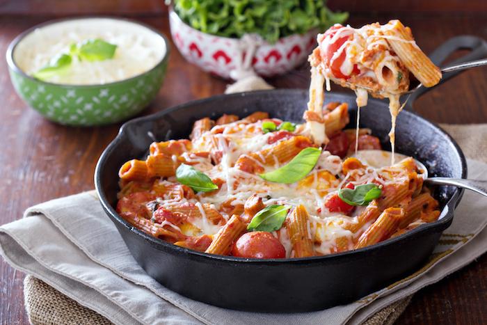 recette de Rigatoni aux tomates et ricotta
