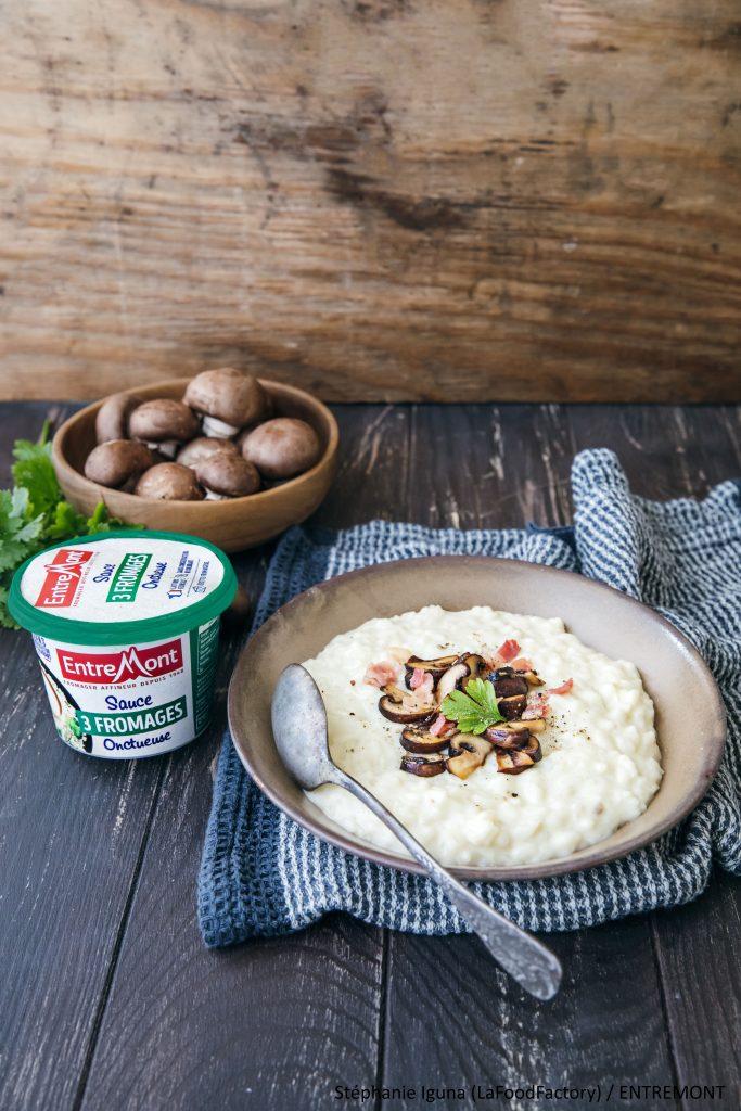 recette de Risotto à la sauce 3 fromages