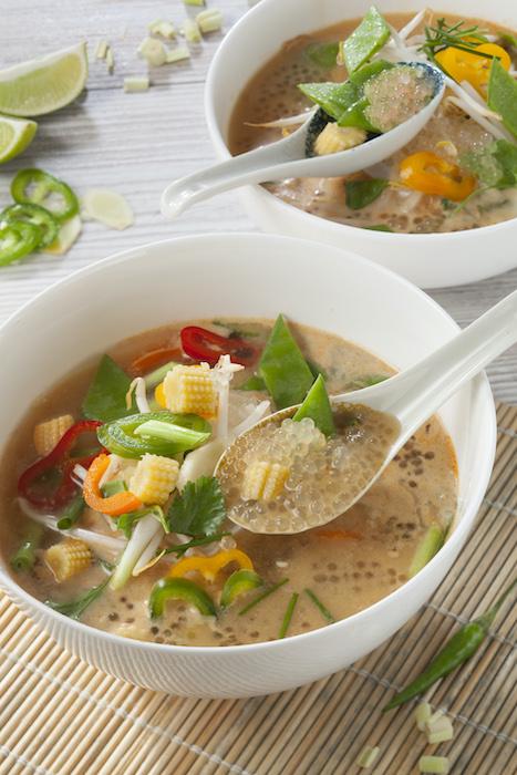 recette de Soupe thaï de perles Japon