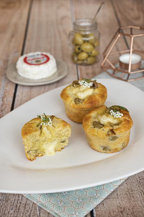 recette de Muffins aux olives et Saint-Marcellin