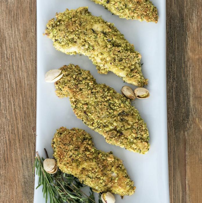 recette de Poulet en croûte de pistaches