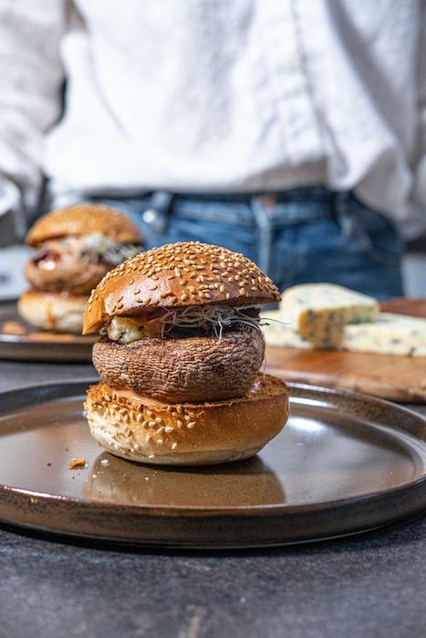 recette de Burger de portobello à la Fourme d'Ambert