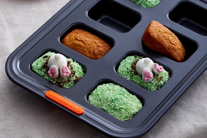 Gâteaux aux carottes décorés de lapins