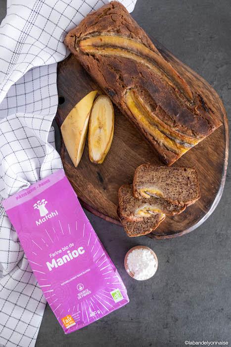 recette de Banana bread à la farine de manioc