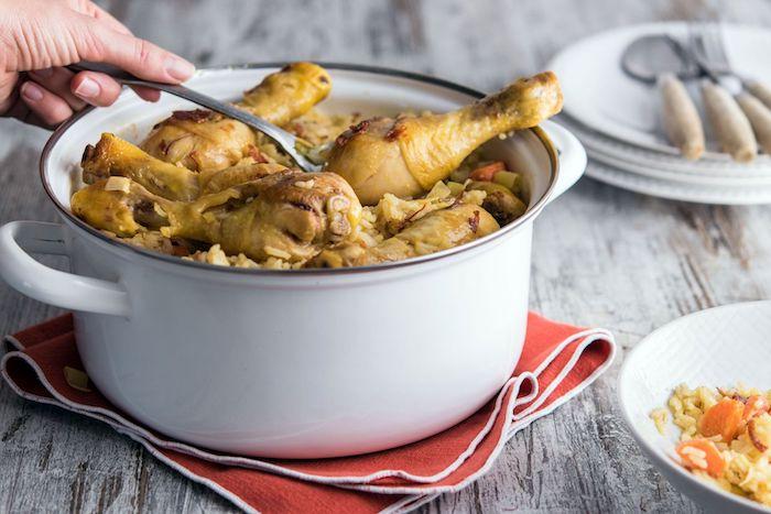 recette de Paëlla au poulet et au chorizo