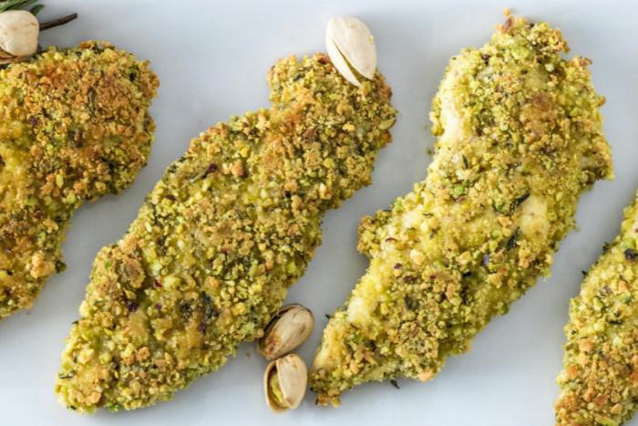 Poulet en croûte de pistaches