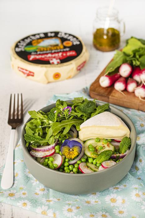 recette de Salade printanière au Reblochon de printemps