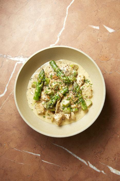 recette de Cocotte de veau aux asperges vertes