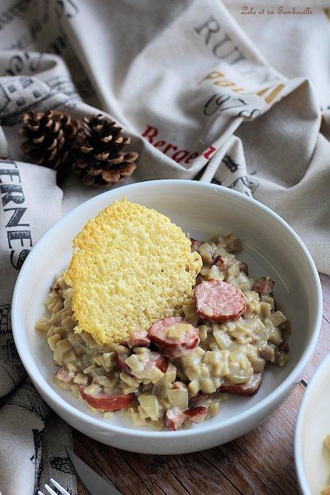 recette de Crozetto à la saucisse de Montbéliard