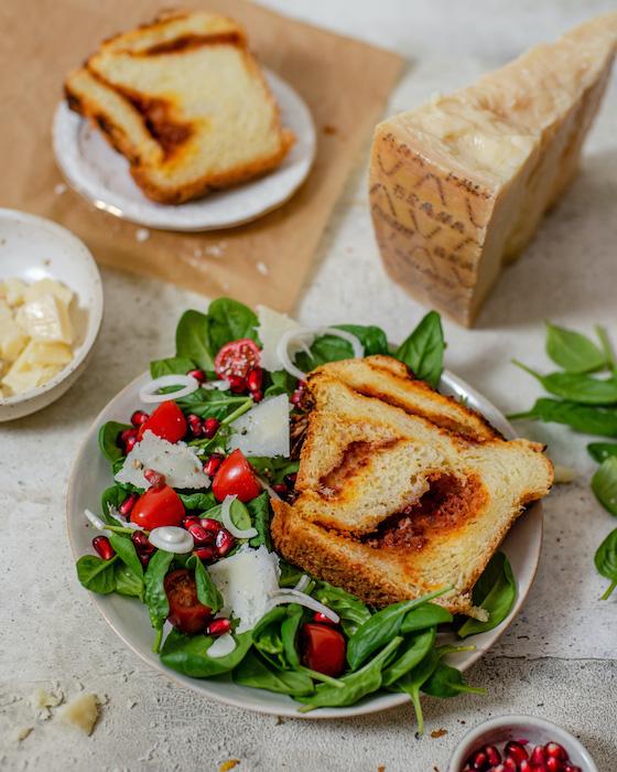 recette de Babka au Grana Padano et pesto