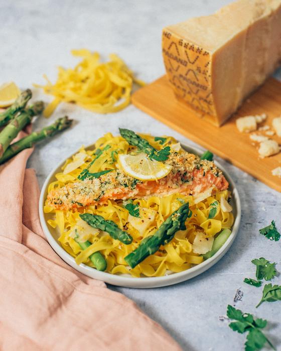 recette de Saumon en croûte de Grana Padano
