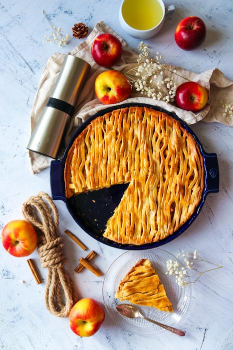 recette d'Apple pie sans sucre raffiné