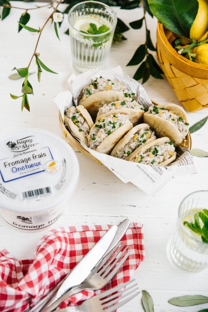 recette de Mini pitas aux rillettes de sardines