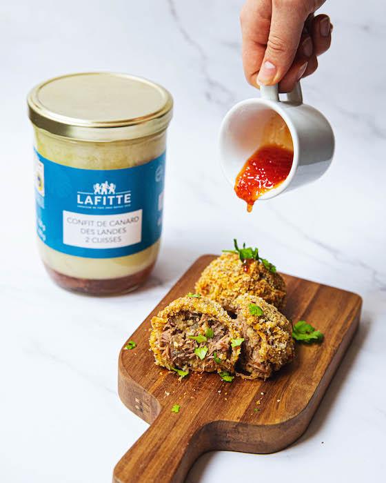 recette de Korokke au confit de canard