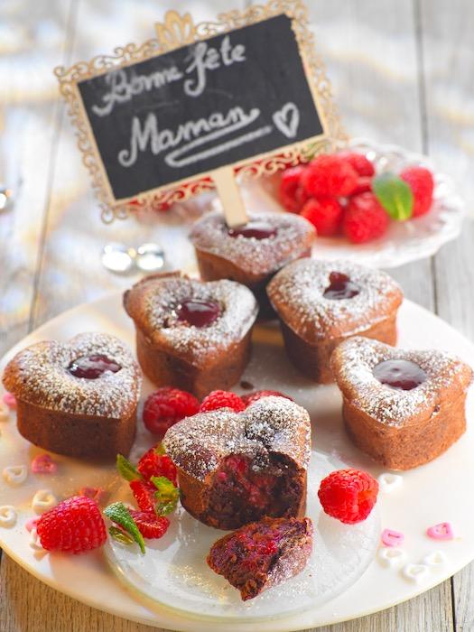 recette de Moelleux chocolat framboise