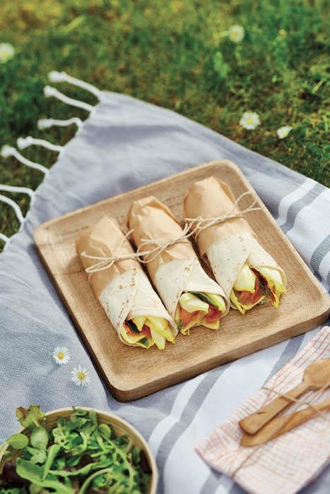 recette de Wraps saumon et endives