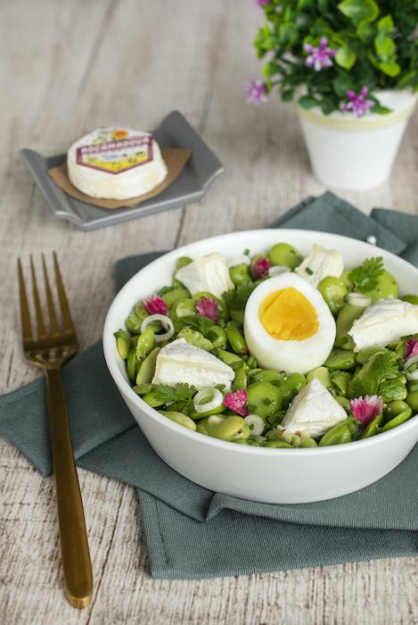 recette de Salade de printemps au Rocamadour