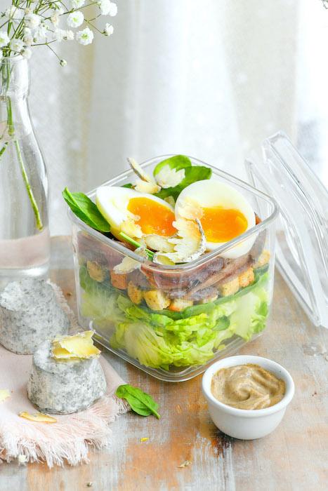 recette de Caesar Salad au Mâconnais
