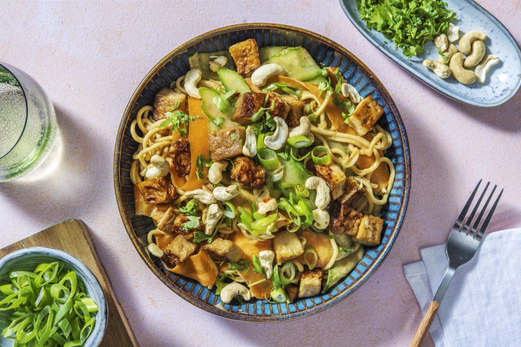 recette de Salade de nouilles au sésame et tofu