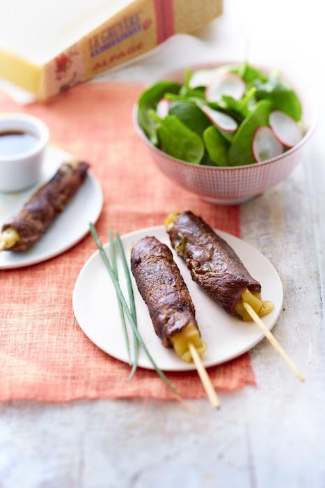recette de Yakitori de boeuf au gruyère