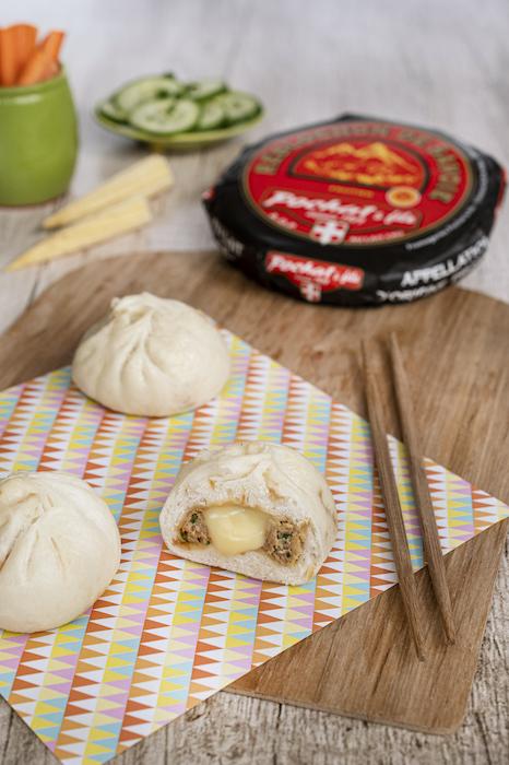 recette de Baos au poulet caramélisé et au Reblochon