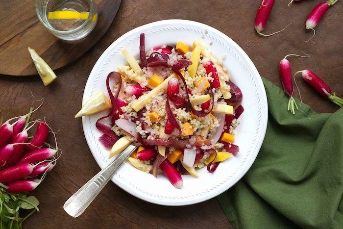 recette de Salade de millet aux radis roses