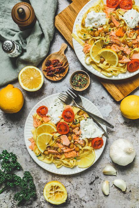 recette de Tagliatelles au saumon sauce citron