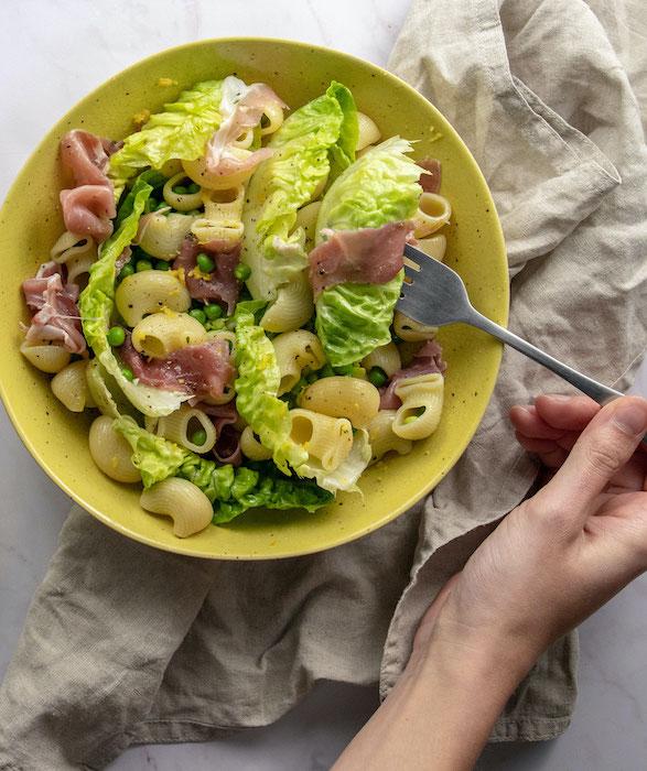 la recette de La salade printanière de pâtes