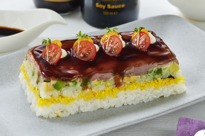 Sushi Cake au rosbeef