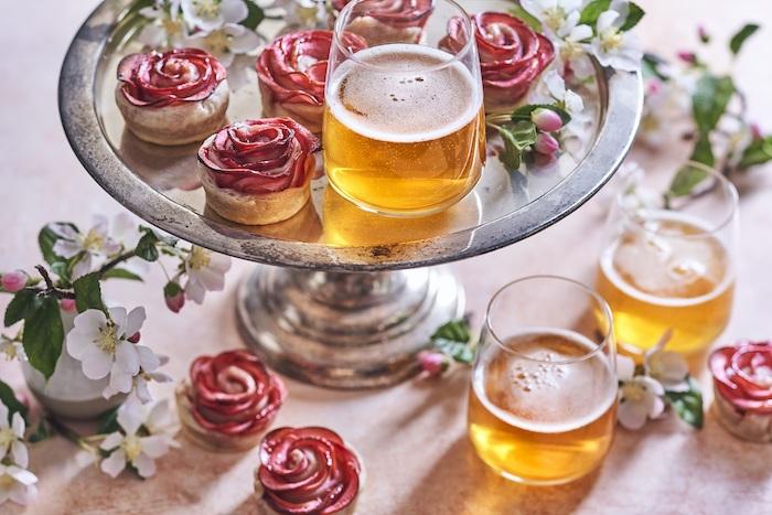 recette de Roses de pommes à l'eau de rose