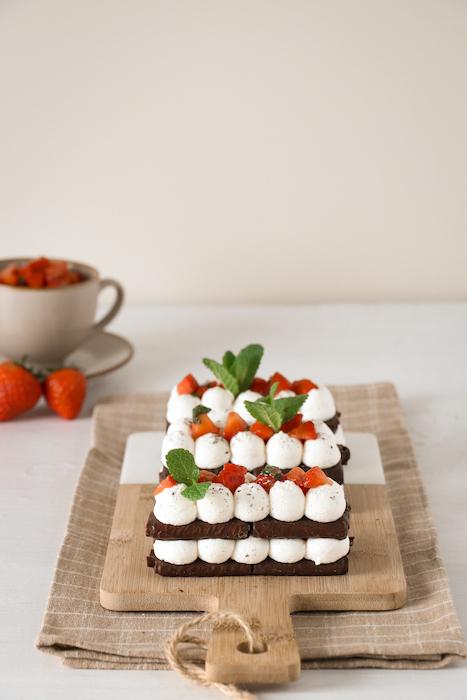 recette de Millefeuille chantilly fraises