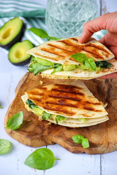 recette de Tortillas façon quesadillas au houmous