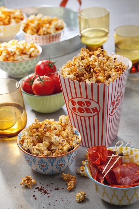 Popcorn tomate chorizo