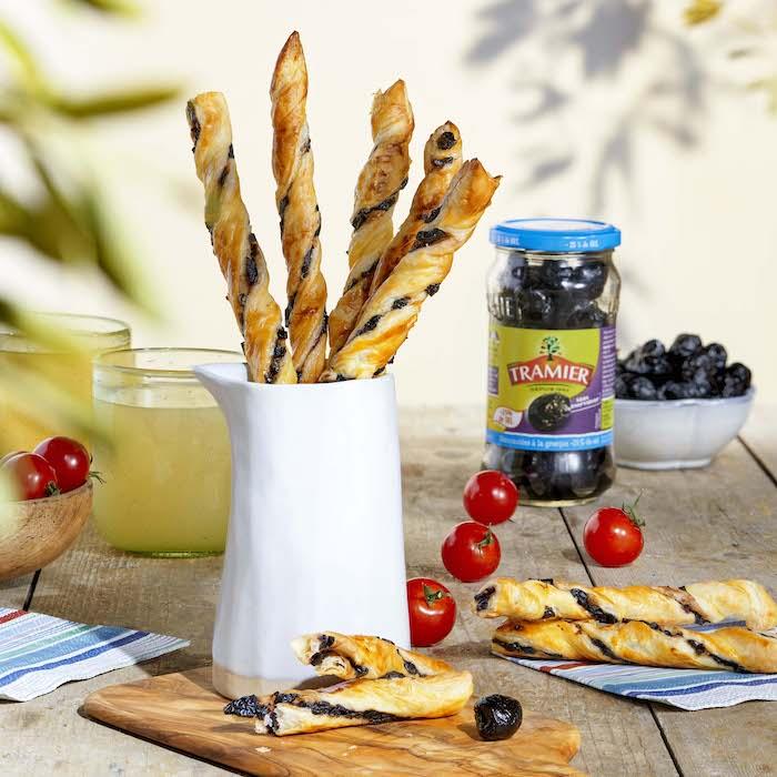 recette de Torsades feuilletées aux olives noires