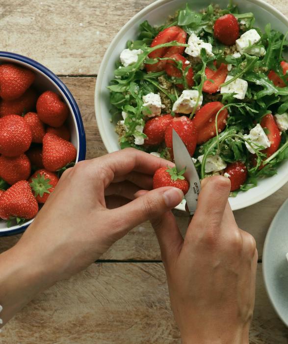 recette de Salade de quinoa aux fraises et feta