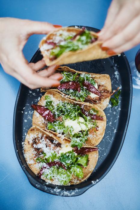 Tacos de boeuf braisé