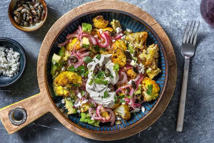 Chou-fleur rôti au curry