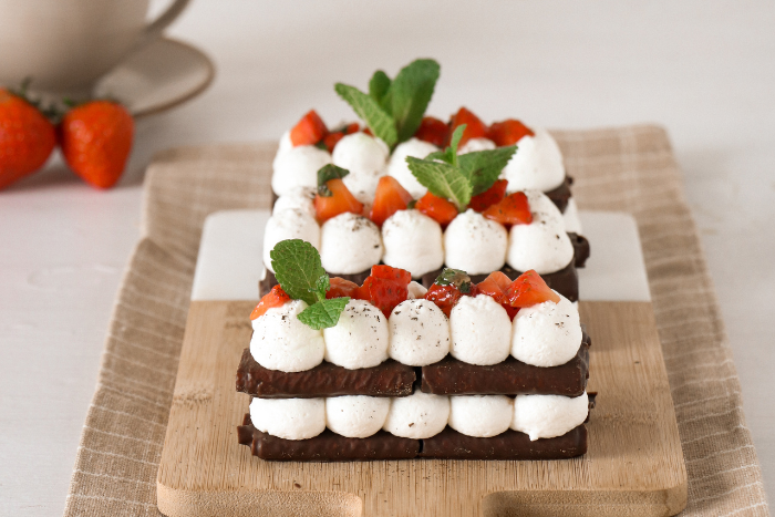 Millefeuille chantilly fraises