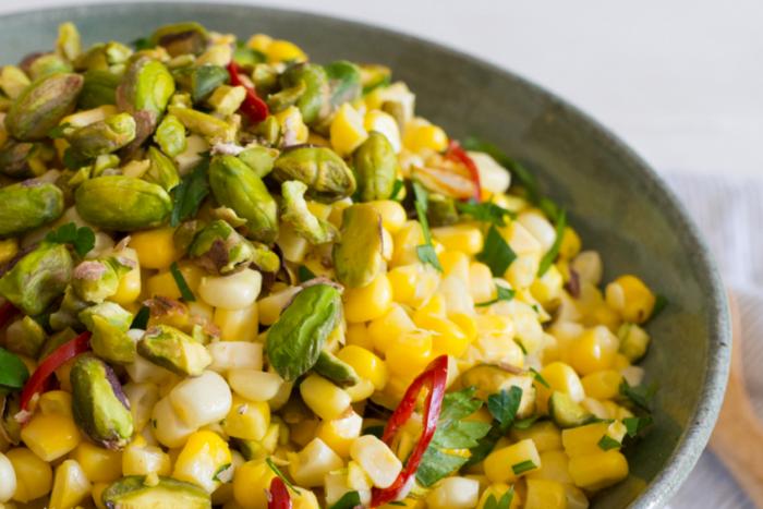 Maïs doux aux pistaches