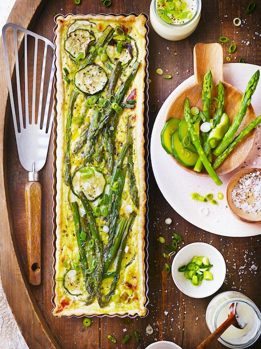 recette de Quiche au yaourt et légumes verts
