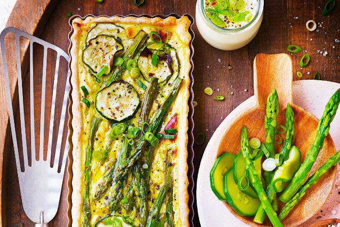 Quiche au yaourt et légumes verts