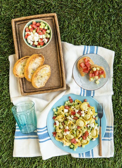 recette de Ravioli aux légumes et tomates cerises