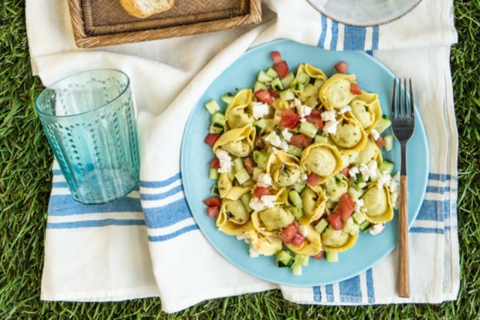 Ravioli aux légumes et tomates cerises
