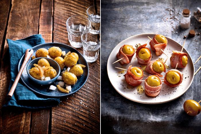 Tapas à l'olive