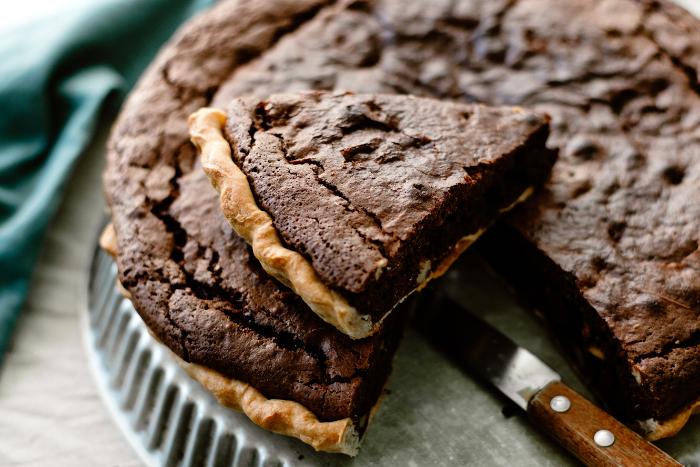Tarte façon brownie aux noix
