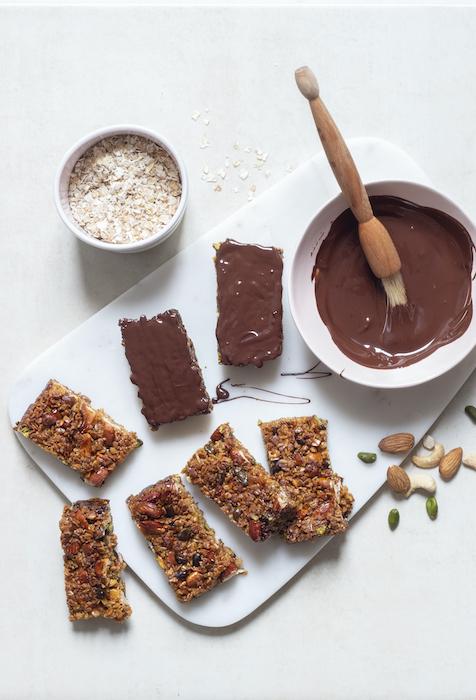 recette de Barres de granola aux flocons d'avoine