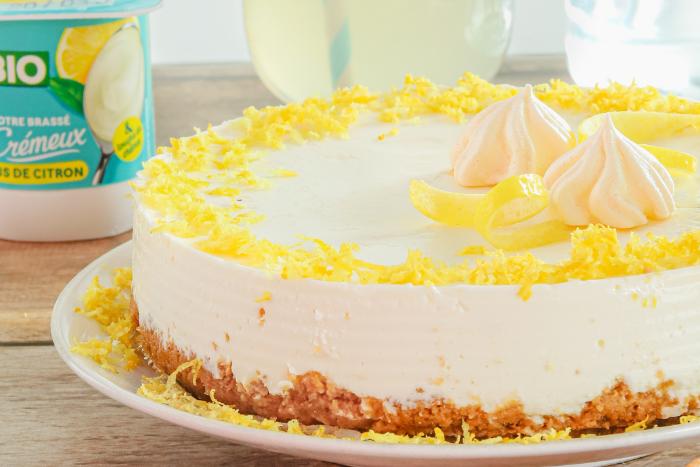 Cheesecake au yaourt au citron