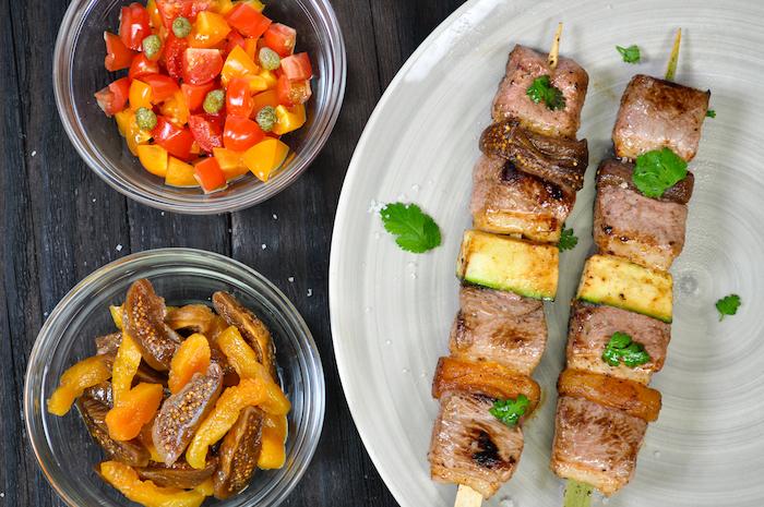 recette de Brochettes de filet de canard