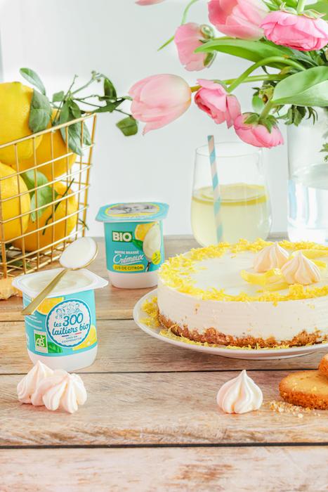 recette de Cheesecake au yaourt au citron